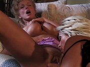 Big titted lesbians getting horny