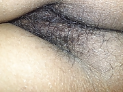 wife's hairy ass&pussy close-up