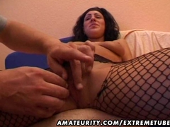 Amateur girlfriend sucks and fucks with cumshot