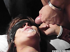 Slutwife gets 47 cumshots during one party