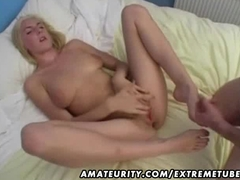 Hot amateur blonde girlfriend homemade anal with facial cumshot
